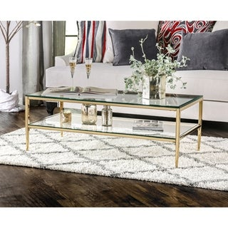 Furniture of America Midiva Contemporary Metal Coffee Table