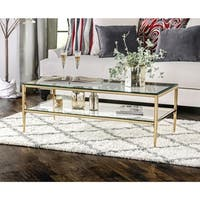 Furniture of America Midiva Contemporary Glass Coffee Table