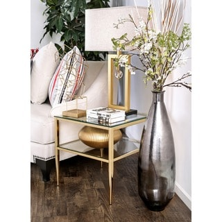 Silver Orchid Pehrson Contemporary Metal End Table