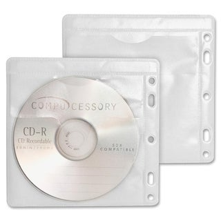 Compucessory Double-Pocket CD/DVD Sleeve - Pack of 100