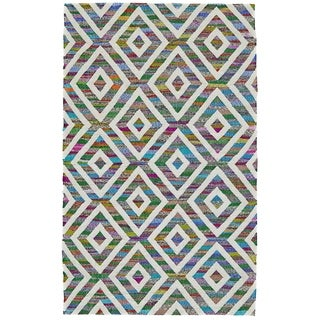 Grand Bazaar Hand-Woven Wool and Cotton Zoe Rug in Kaleidoscope, (5' x 8')