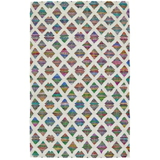 Grand Bazaar Hand-Woven Wool and Cotton Zoe Rug in Rainbow, (5' x 8')