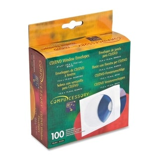 Compucessory CD/DVD Window Envelopes - Box of 100