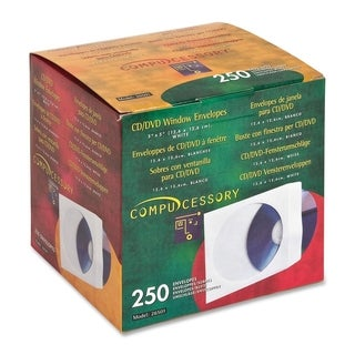 Compucessory CD/DVD Window Envelopes - Box of 250