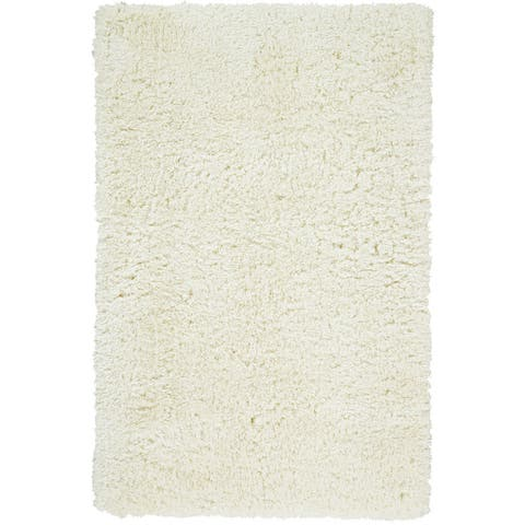 Grand Bazaar Hand-Tufted Roux Shag Rug in Fog, (5' x 8') - 5' x 8'