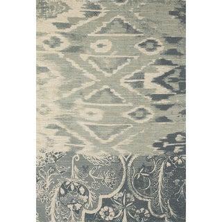 Grand Bazaar Huelva Blue Hand-woven Abstract Rug (5' x 8')