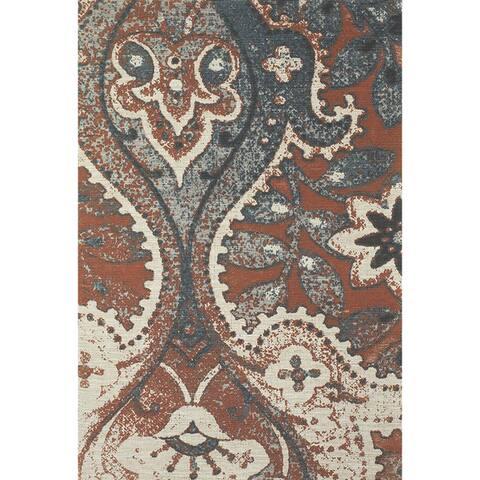 Grand Bazaar Abstract Huelva Hand-woven Rug (5' x 8') - 5' x 8'