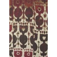 Grand Bazaar Huelva Abstract Hand-woven Rug (5' x 8') - 5' x 8'