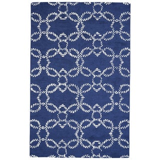 Grand Bazaar Hand-Woven Wool Lonni Rug in Atlantic, (5' x 8')