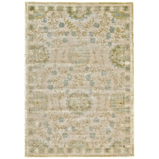 Grand Bazaar Celadon Farrell Power-loomed Rug (7'4 x 10'3)