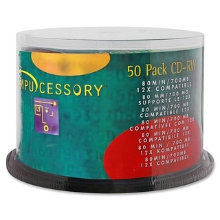 Compucessory CD-R Rewritable Media 12x 700 MB - Pack of 50