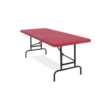All-American, ADJ, Rectangular Folding Table avaible in Blue or Red, Pack of 20. (Option: Red)