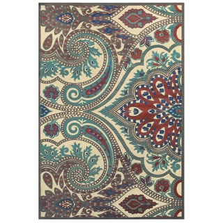 Grand Bazaar Azize Cream Nutmeg Power-loomed Rug (2'2 x 4')