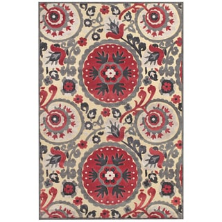 Grand Bazaar Cream Nutmeg Azize Power-loomed Rug (2'2 x 4')