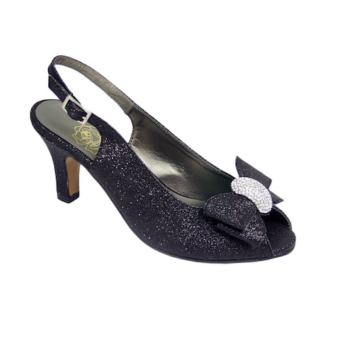 FLORAL Emely Womens Extra Wide Width Slingback Heel