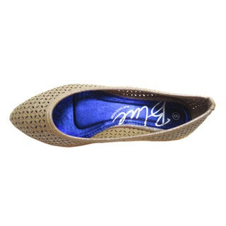 Blue Women's 'Jyce' Netted Pointy Flats