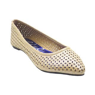 Blue Women's 'Jyce' Netted Pointy Flats (Option: Black)|https://ak1.ostkcdn.com/images/products/11138224/P18137658.jpg?impolicy=medium