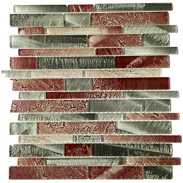 Upscale designs 12 inch glass mesh mounted mosaic wall for Installing glass tile with mesh back
