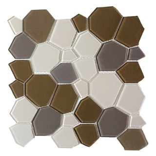 Upscale Designs 11.5-inch Glass Mesh-Mounted Mosaic Wall Tile (6 sheets)
