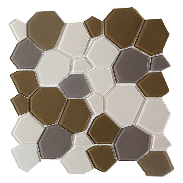 Upscale Designs 11 5 Inch Gl Mesh Mounted Mosaic Wall Tile 6 Sheets