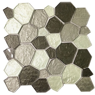 Instant Mosaic Peel and Stick 11.5-inch Glass Mosaic Wall Tile (Pack of 6 Sheets)