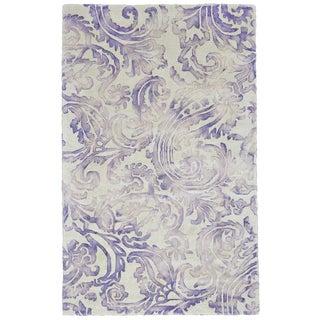 Grand Bazaar Violet Billingsley Hand-hooked Rug (9'6 x 13'6)