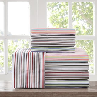 Intelligent Design Multi Stripe Deep Pocket Sheet Set