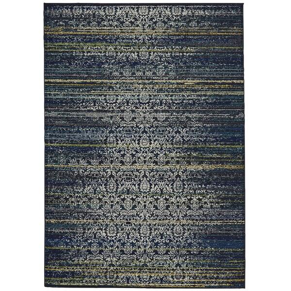 "Grand Bazaar Omari Midnight Blue Area Rug (2'2"" x 4') - 2'2 x 4'"