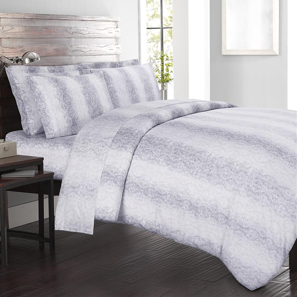 Echelon Home Kalahari 4-piece Cotton Sateen Sheet Set