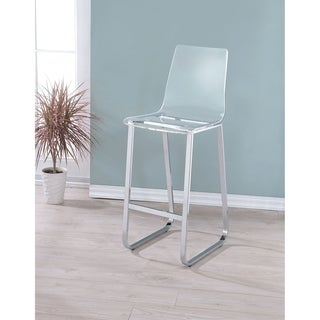 Furniture of America Miellis Contemporary Acrylic 30.5-inch Bar Chair (Set of 2)