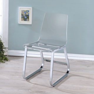 Furniture of America Miellis Contemporary Acrylic Dining Chair (Set of 2)