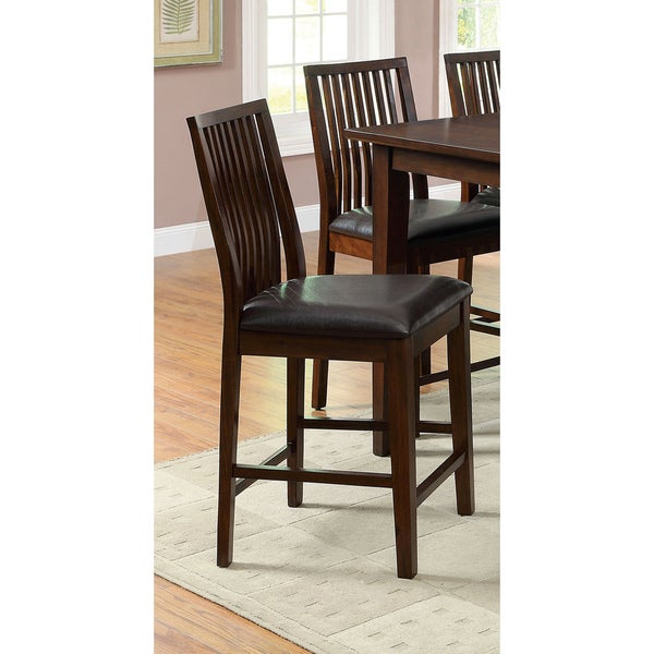 Shop Tribecca Home Watson 24 Inch Counter Height Chair: Shop Copter Transitional Walnut Counter Height Stool (Set