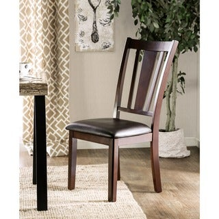 Furniture of America Bension Espresso Side Chairs (Set of 2)