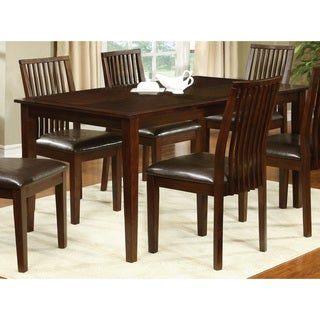 Furniture of America Drezda Transitional Walnut 60-inch Dining Table