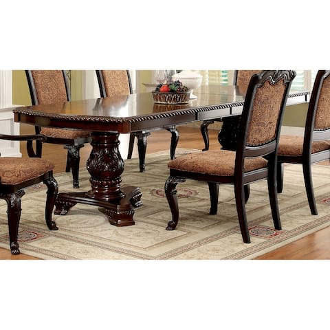 Furniture of America Kova Cherry 108-inch Expandable Dining Table