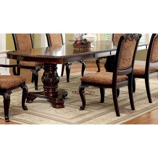 Furniture Of America Kova Traditional Cherry 108 Inch Dining Table On Sale Overstock 11138468