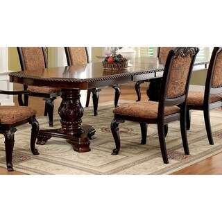 Furniture of America Oskarre Formal Brown Cherry 108-inch Dining Table