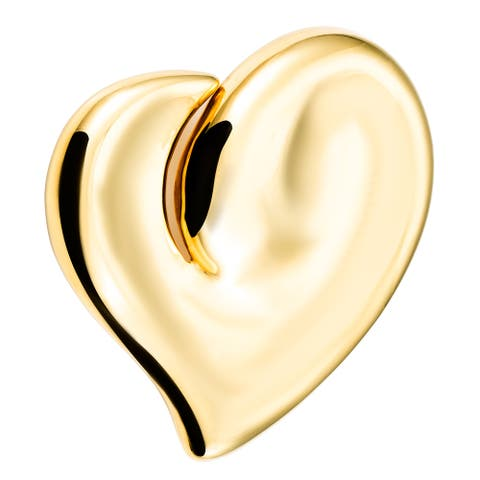 Estate Tiffany & Co. 18k Yellow Gold Giant Full Heart Pendant by Elsa Peretti