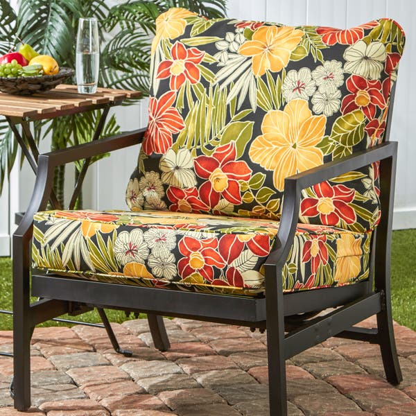 Astonishing Shop Havenside Home Elmington Deep Seat 25 Inch X 47 Inch Customarchery Wood Chair Design Ideas Customarcherynet