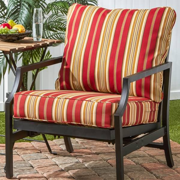 Awe Inspiring Shop Havenside Home Elmington Deep Seat 25 Inch X 47 Inch Customarchery Wood Chair Design Ideas Customarcherynet