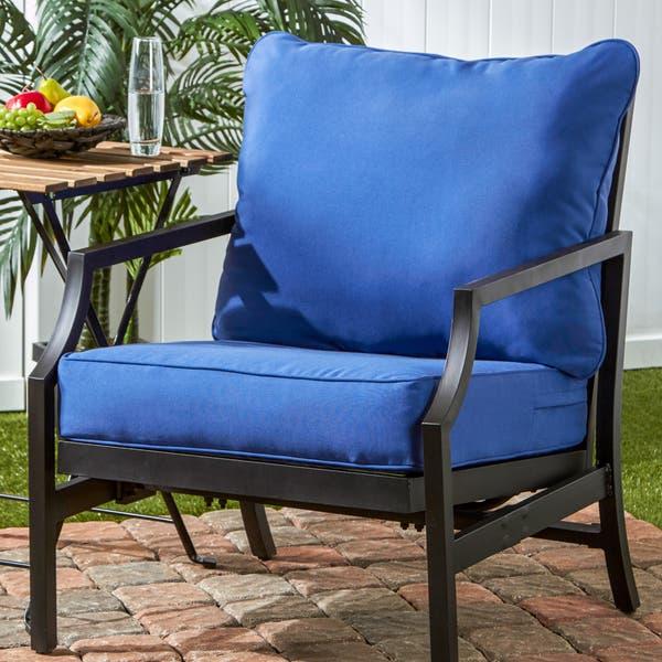 Remarkable Shop Havenside Home Elmington Deep Seat 25 Inch X 47 Inch Customarchery Wood Chair Design Ideas Customarcherynet