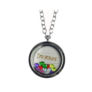 Pink Box 'I'm Yours' Stainless Steel Love Message Locket