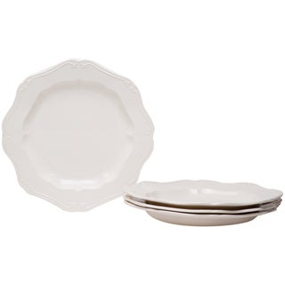 Country Estate White 11-inch Dinner Plates (Set of 4)