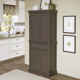 Everyday Cabinets Dark Espresso Wood 30 Inch Shaker Pantry Utility Kitchen Cabinet Free