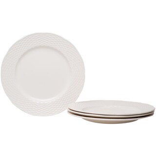 Nantucket White 11.25-inch Dinner Plates (Set of 4)