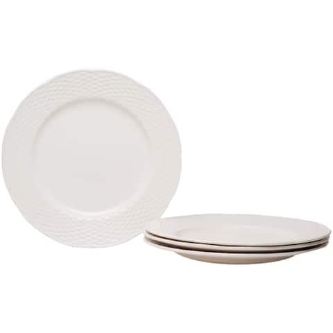 """Red Vanilla Nantucket White Dinner Plate 11.25"""" (Set of 4)"""