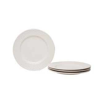 Nantucket White 8.5-inch Salad Plates (Set of 4)