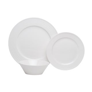 Vanilla Swirl Bone China 18-piece Dinner Set