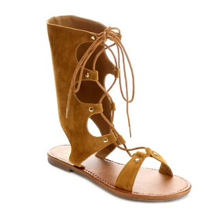 Beston FA56 Women's Lace Up Flat Sandals