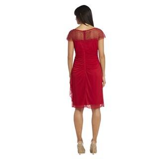 R&M Richards Women's Short Chiffon Dress